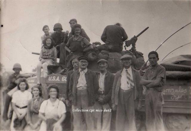 Mes grand parents sur un M8 Aout 1944 Mamie_11