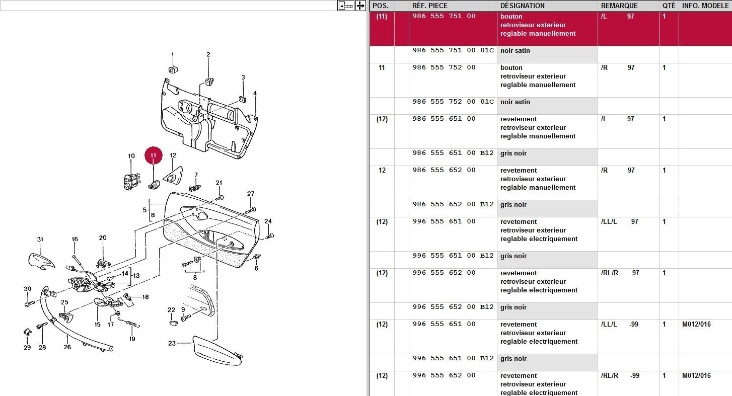 montage retroviseurs electriques sur boxster 1997 Retro10