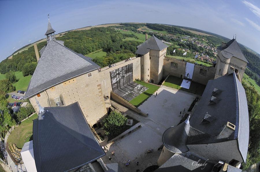 Sortie Château de Malbrouck, Château de de Sierck et point de vue au Stromberg le 16 juin 11082134