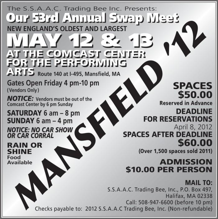 swap meet comcast center mansfield, ma 5/12-5/13 93416810