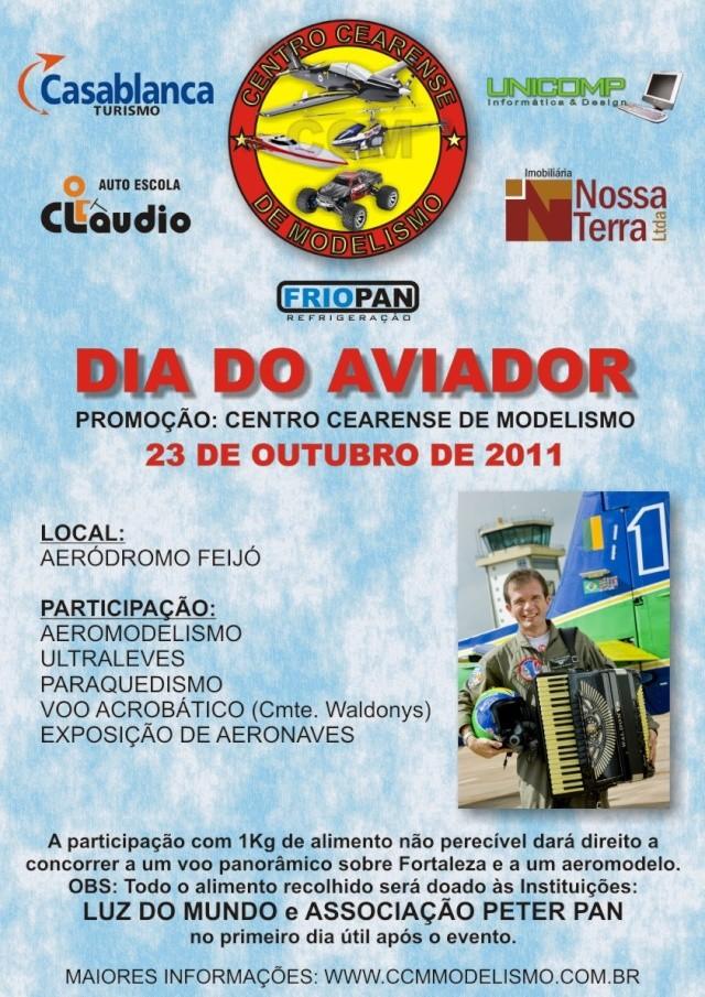 """Grande festa Aérea """" Dia do Aviador """" um convite especial do CCM  Cartaz10"""