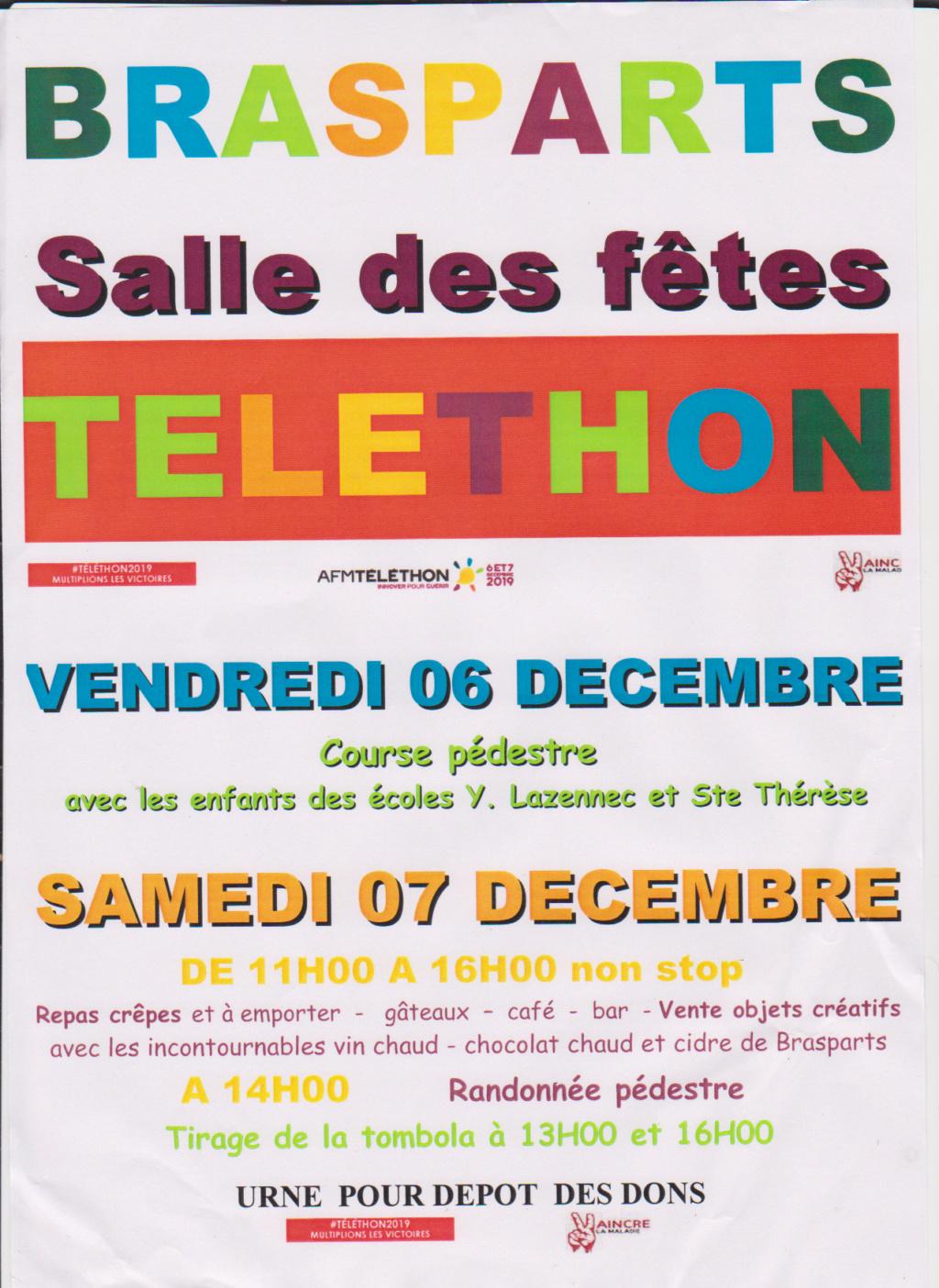 TELETHON 2019 à BRASPARTS Affich18