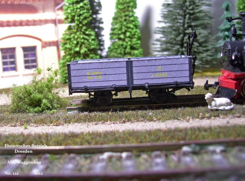 Auf zu neuen Ufern... offener Güterwagen, Gattung 777 der K. Sächs. Sts. E.B. 113_9832