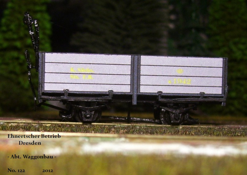 Auf zu neuen Ufern... offener Güterwagen, Gattung 777 der K. Sächs. Sts. E.B. 113_9834