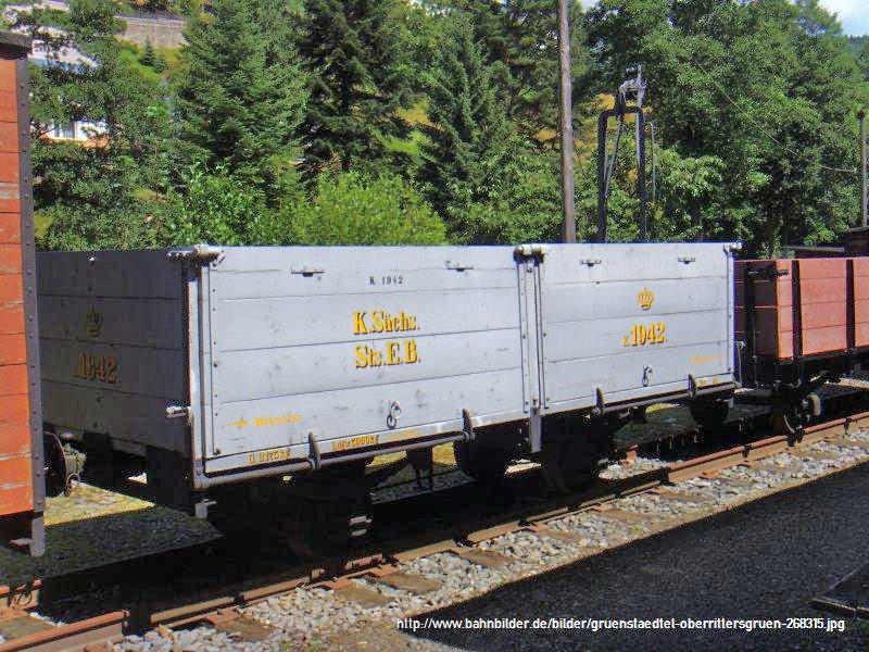 Auf zu neuen Ufern... offener Güterwagen, Gattung 777 der K. Sächs. Sts. E.B. Gruens10