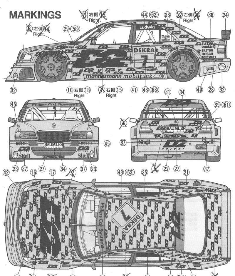 Notice Tamyia Mercedes C-Class DTM 94' Merced10