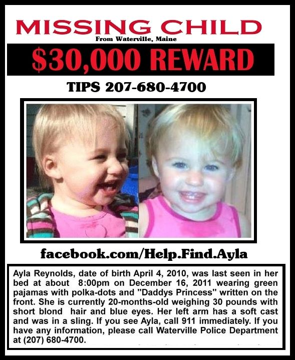 20 month old Ayla Reynolds Disappears from Father's Home in Maine/Ayla still missing 3 years later. - Page 6 Ayla10