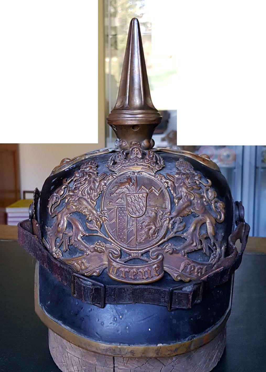 casque a pointe troupe bavaroise 1er régiment artillerie Bav_us10