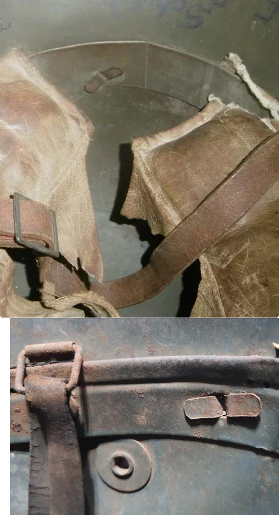 Casque M16 avec coiffe à bandeau métallique encore jamais  vu... Comp_b10