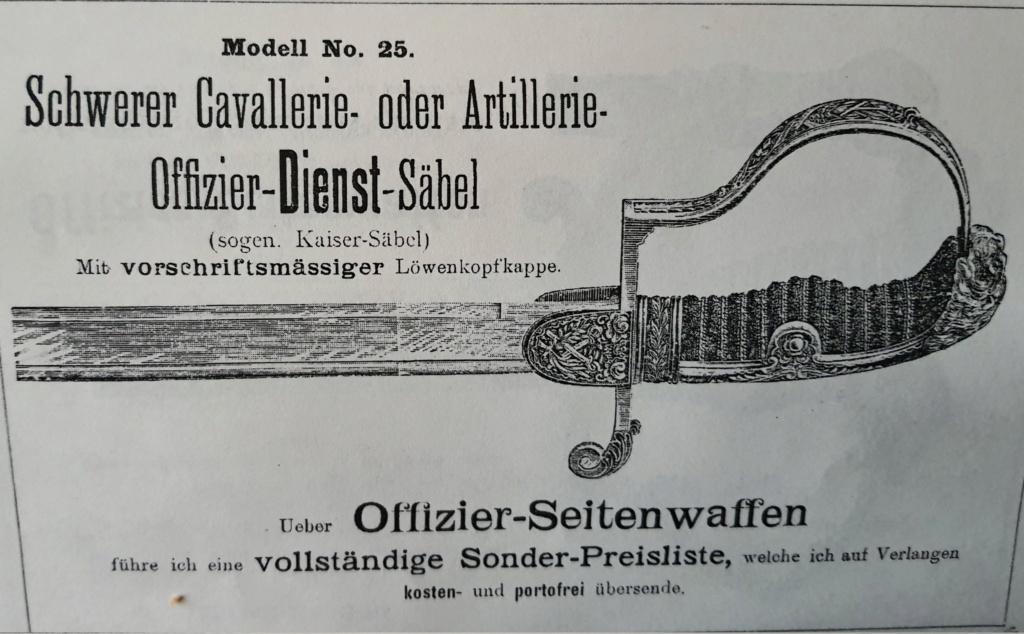 Sabre prussien d'artillerie du fabricant Clemen et Jung de Solingen Off_ca12