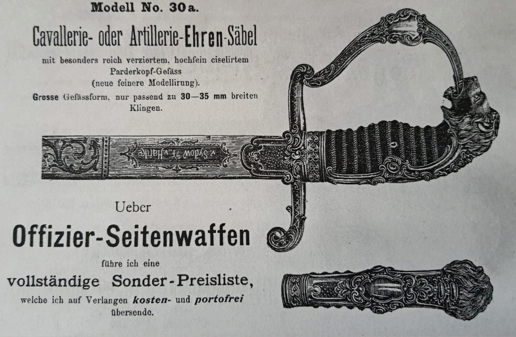 Sabre prussien d'artillerie du fabricant Clemen et Jung de Solingen Off_ca13