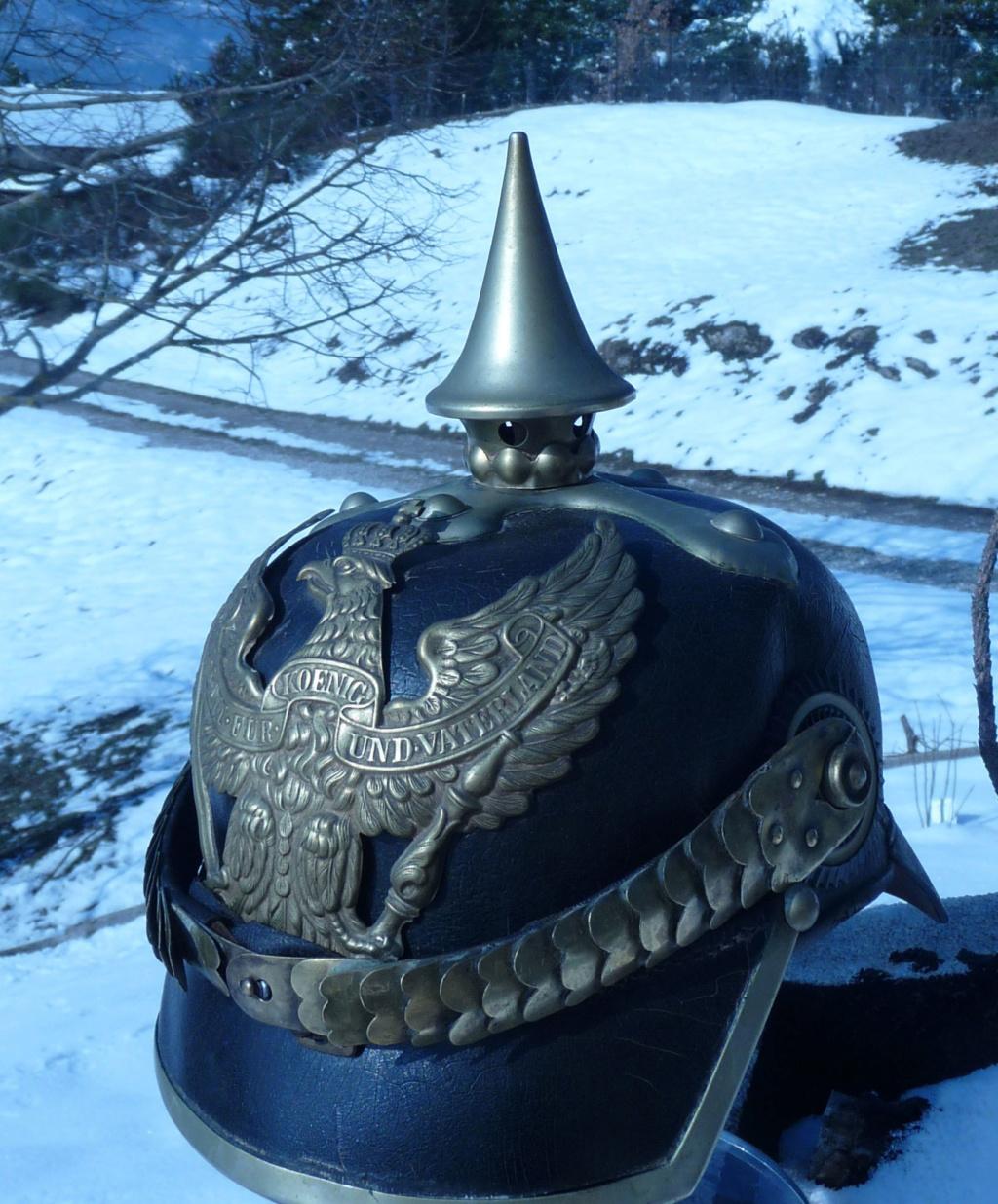 Noël : Casque à pointe de dragon prussien modèle 1860 Sans_157