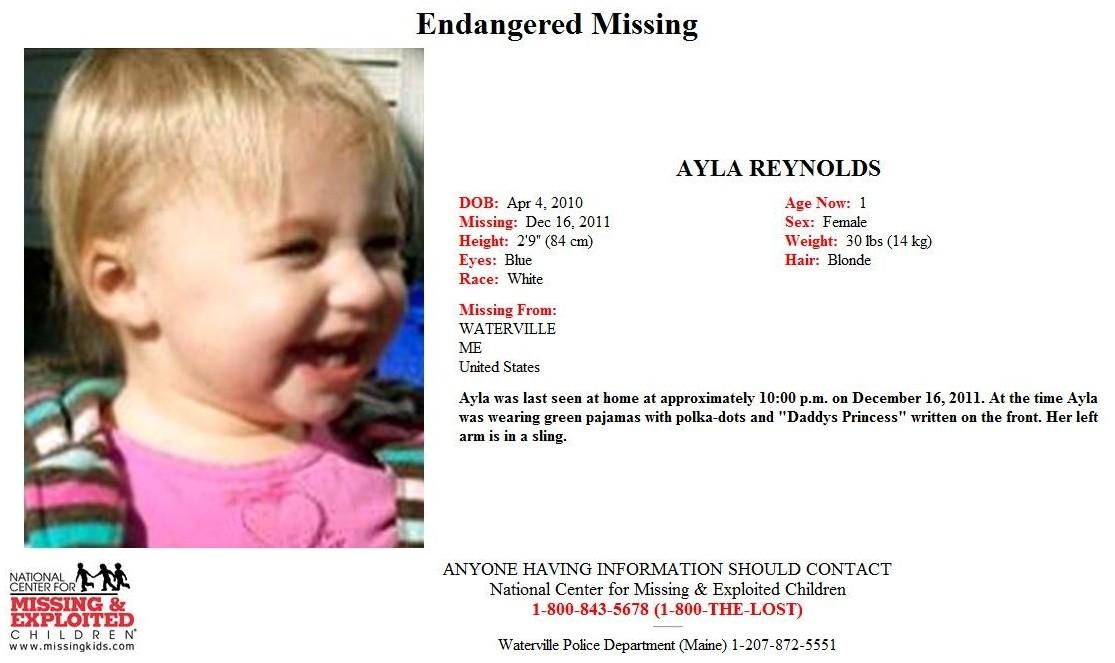 Ayla Reynolds -- Missing 12/17/11 Ayla12