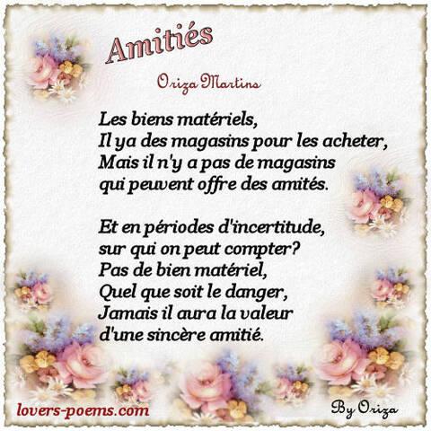 Poèmes D Amitié