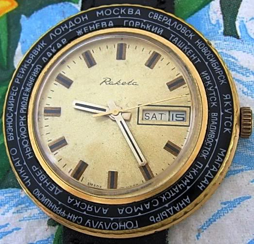 [Vendue] Raketa World Time 65 Euros Raketa12