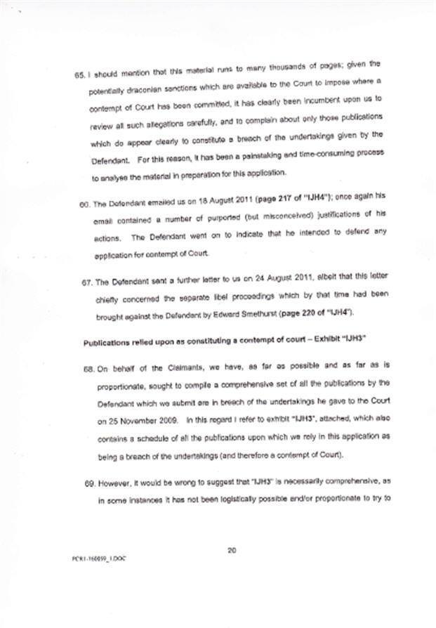 Isabel Hudson's Affidavit 2010