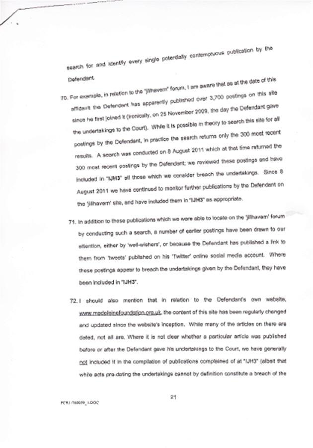 Isabel Hudson's Affidavit 2110