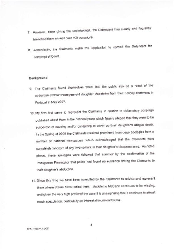 Isabel Hudson's Affidavit 310
