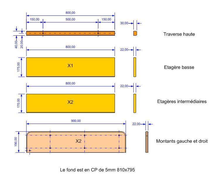 Fabrication d'une triple étagère pour une chambre Detail10