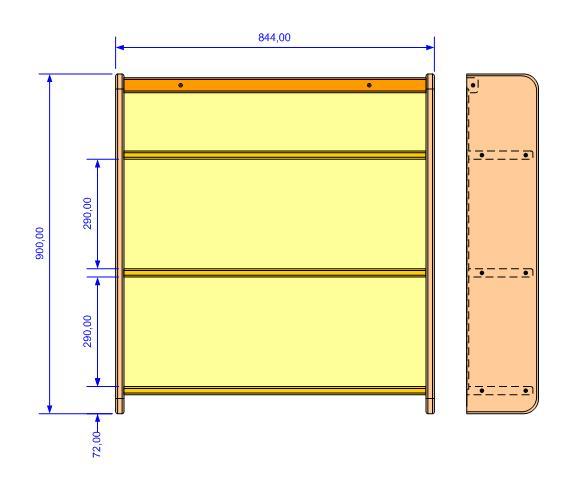 Fabrication d'une triple étagère pour une chambre Vu_ens10