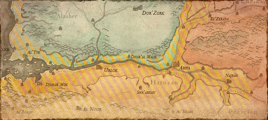 Chronologie, Factions et Carte du Harad Geopol10