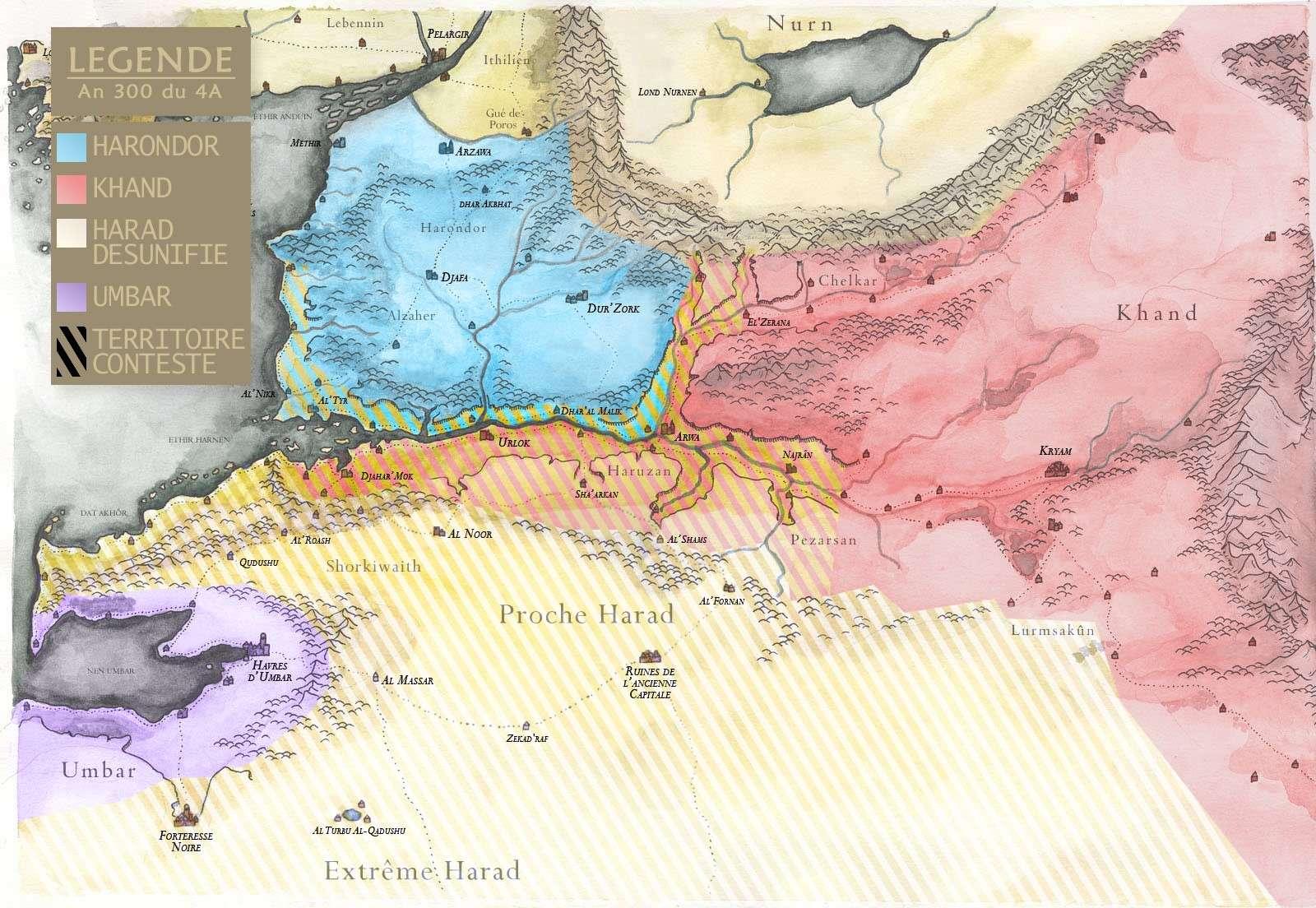 Carte de la Terre du Milieu  Haradm10