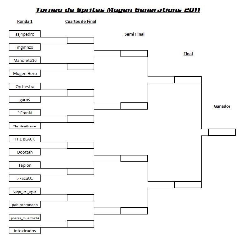 Torneo de Sprites Mugen Generations 2011 - SORTEO Y FIXTURE Torneo12