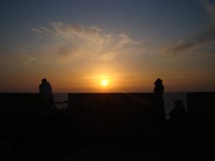 Les couchers sublimes à l'horizon d'Essaouira Dsc09423