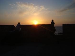 Les couchers sublimes à l'horizon d'Essaouira Dsc09425