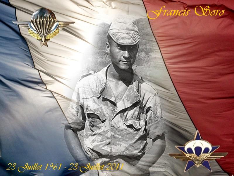 SORO Francis Chasseur Parachutiste 1er RCP assassiné par le FLN 23 juillet 1961 - Page 3 Franci11