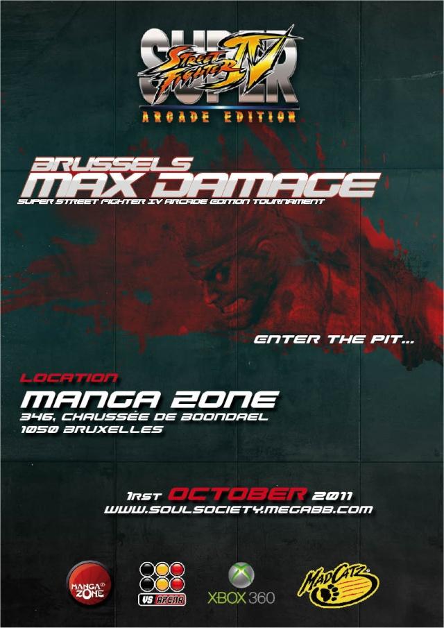 Brussels Max Damage - 01 Octobre 2011 -  Affich12