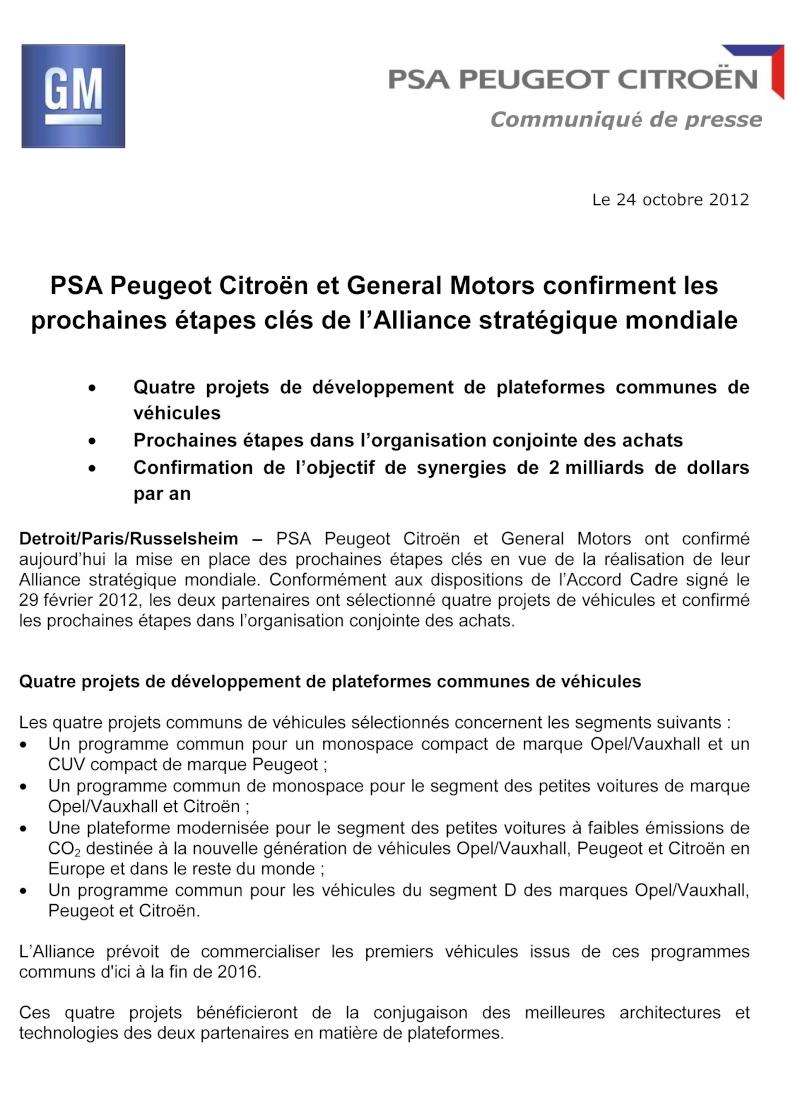 [COMMUNIQUES DE PRESSE]  PSA Peugeot Citroen 115
