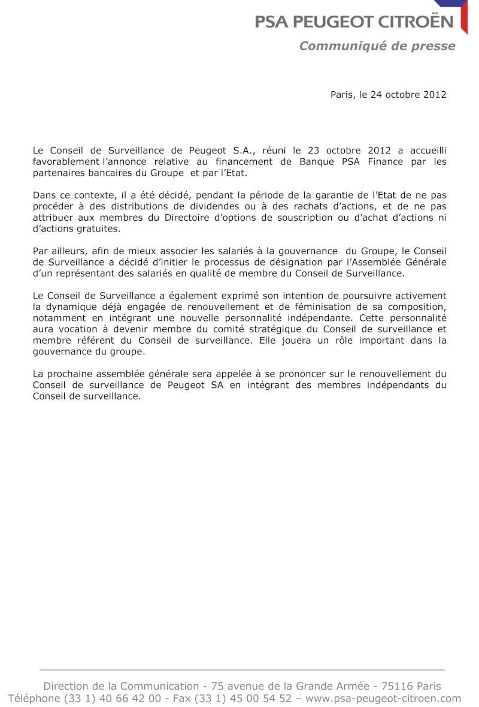 [COMMUNIQUES DE PRESSE]  PSA Peugeot Citroen 2012-110