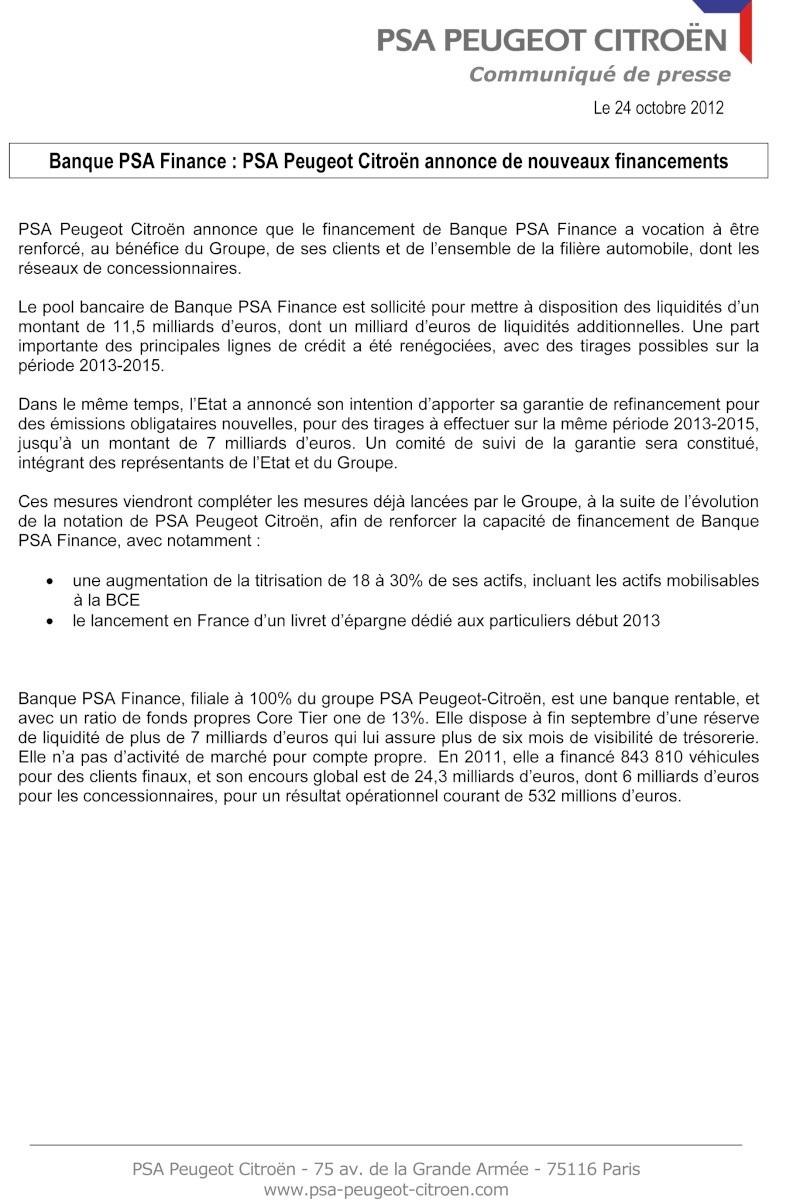 [COMMUNIQUES DE PRESSE]  PSA Peugeot Citroen 2012-112