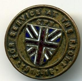"Wanted:  Dated CEF ""For Service at the Front"" Pins 1915-111"