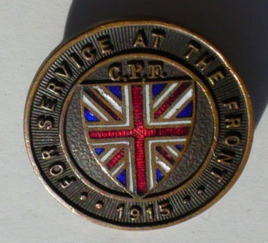 "Wanted:  Dated CEF ""For Service at the Front"" Pins 191511"