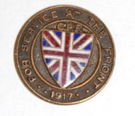 "Wanted:  Dated CEF ""For Service at the Front"" Pins 191710"