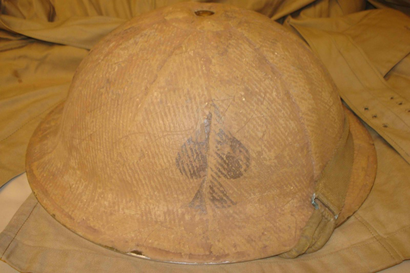 WW2 Canadian Burlaped Italian Front Combat Helmet Kgrhqf10