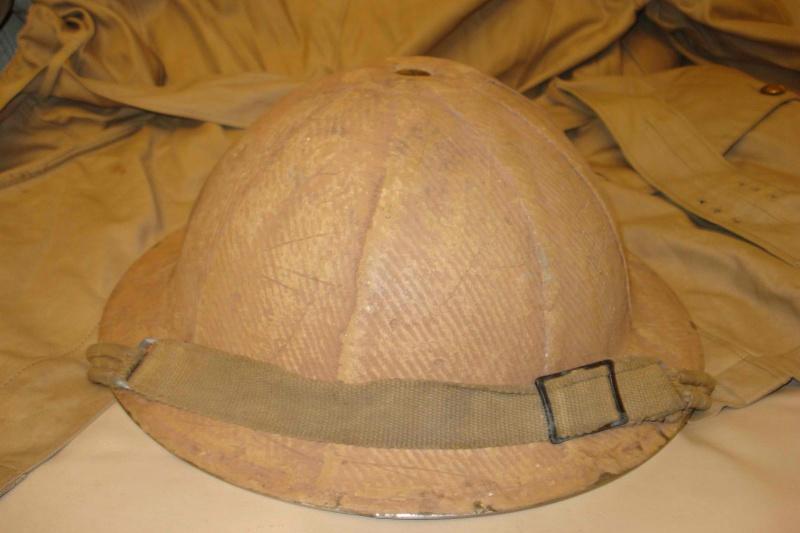 WW2 Canadian Burlaped Italian Front Combat Helmet Kgrhqv13
