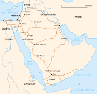 Où se situe le désert de Paran ? Nabate11