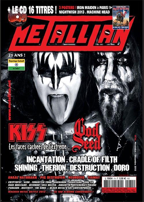 KISS en couv' de Metallian Magazine 52345010