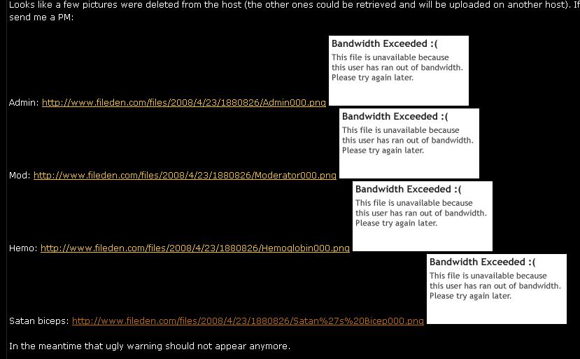 BANDWIDTH EXCEEDED Aaa43