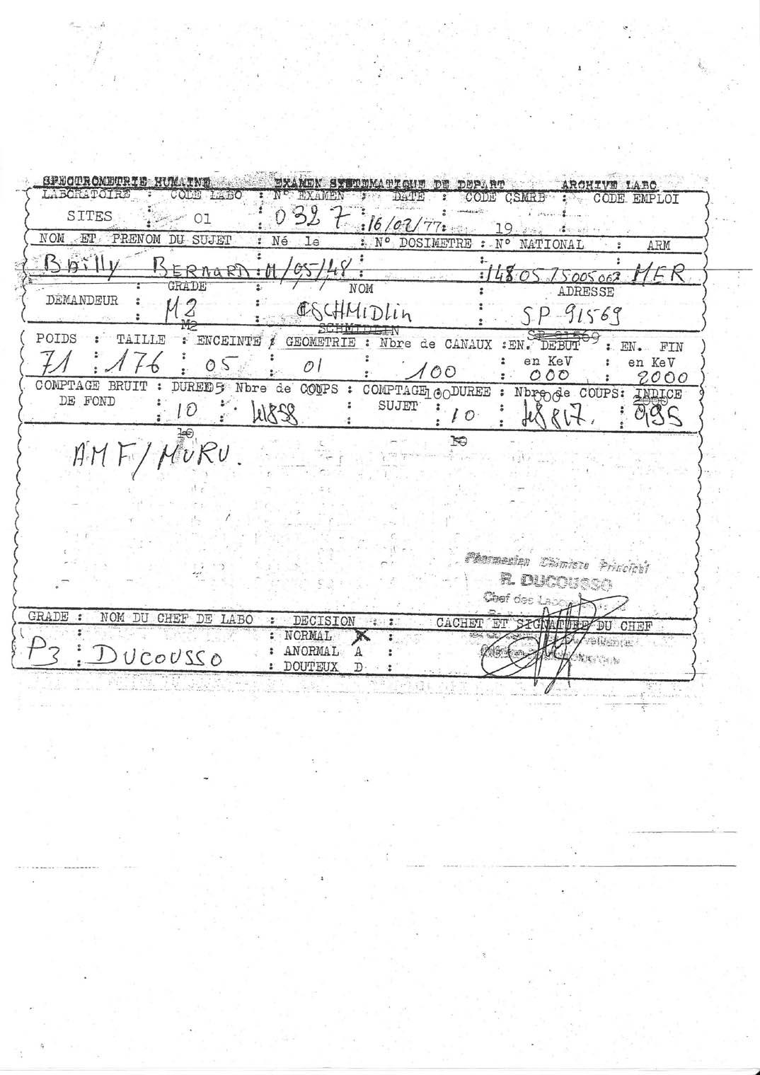 [Divers campagne C.E.P.] LES DOSIMETRES et la RADIO PROTECTION au C.E.P. - Page 3 Img16
