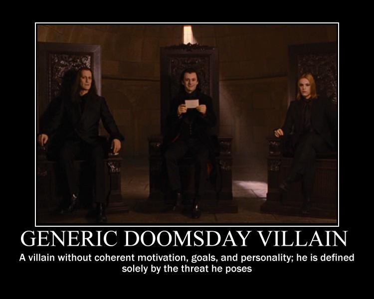 what is a quotgeneric doomsday villianquot