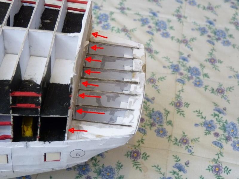 HMS Victory Shipyard scaliert 1:96 auf 1:84 aus Karton P1020233