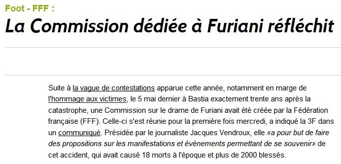 La Commission dédiée à Furiani réfléchit F10