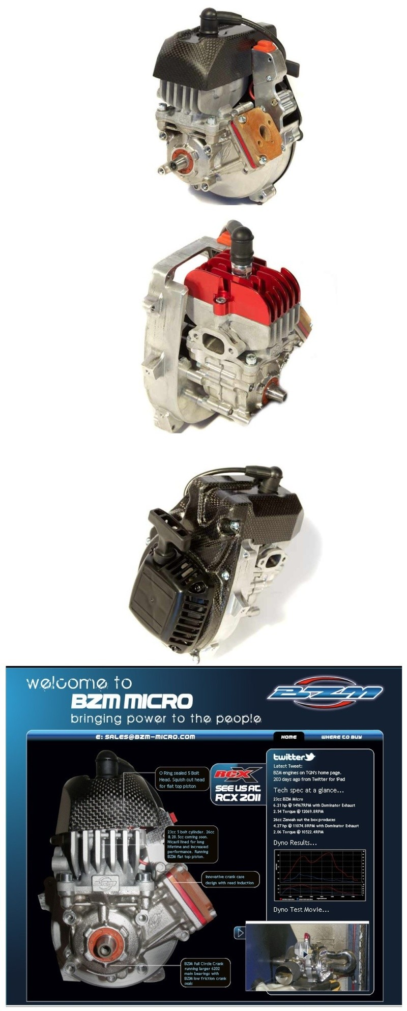 BIZETA BZM Micro 28.5CC Reed Motor Bb959n10