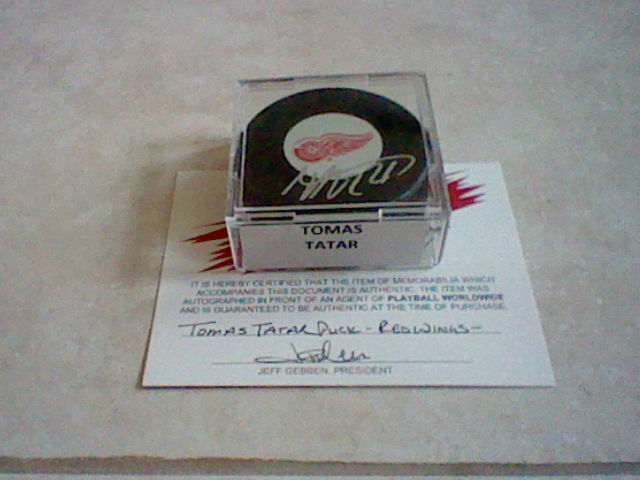 Autographed Red Wings Accessories Hni_0010
