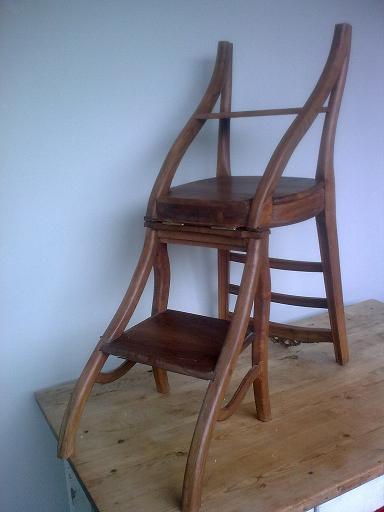 chaise escabeau de biblioth que. Black Bedroom Furniture Sets. Home Design Ideas