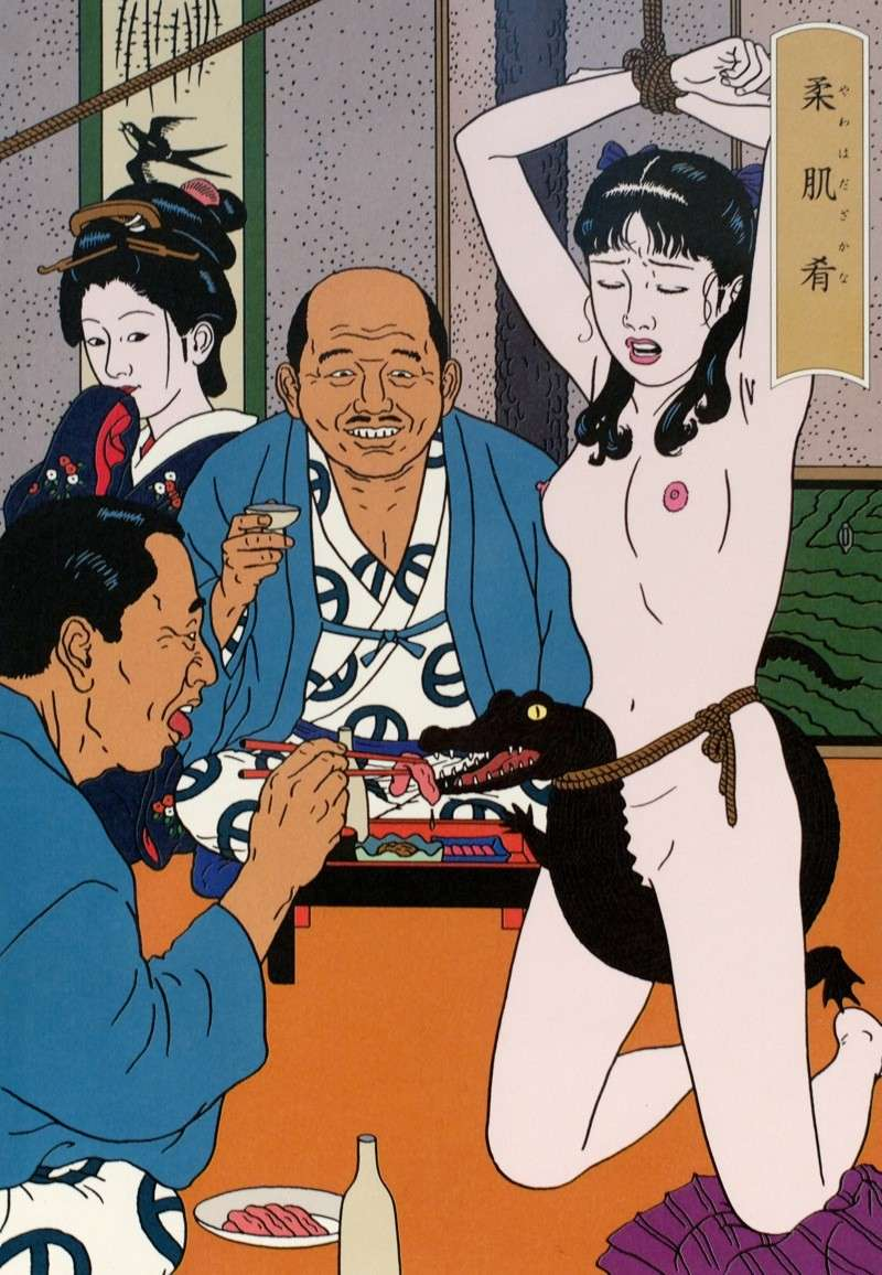 Toshio Saeki, estampes érotiques et cruelles Dsm_5311